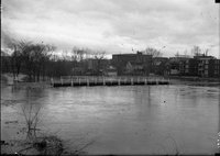 Bridge, houses and flooding, Hartford