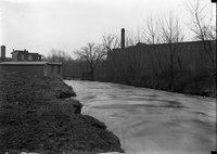 Torrent with factory, probably during flood, Hartford, possibly 1924