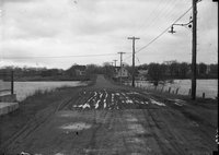 Dirt road and flood, Harford, possibly 1924