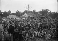 Boys and girls in swimsuits, Hartford