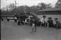 Boy doing handstand, Colt Park, Hartford (1921)