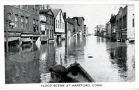 Flood scene (Front Street?) at Hartford, Conn.