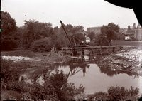 (Pope Park)  Wellington Street bridge construction, Hartford, May 1923