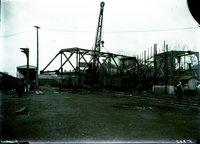 Bridge framework, Union Station under construction