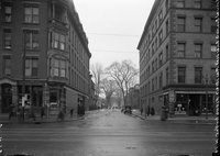 391-407 Main Street at Capitol Avenue, Hartford, looking west