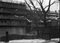 Back of apartment buildings, Hartford