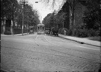 Ashley Street at Garden, with trolley, Hartford (May 18, 1920)