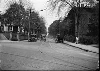 Ashley and Garden Streets, Hartford, with cars, May 18, 1920