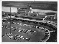 Aerial view, Murphy Terminal, Bradley Airport, Windsor Locks