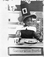 Boy in William Bradford costume, Thanksgiving, Hartford