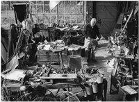 Alexander Calder in studio, Roxbury, October 1, 1973