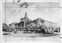 Aetna Life Insurance building architectural drawing, Hartford
