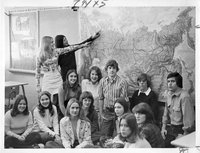 Avon High School students before trip to Russia, 1975