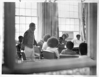 Bloomfield high School student at protest meeting,  Hartford, 1973