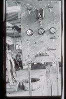 Alexander Loper's machine shop interior, with fire alarm system, Stonington