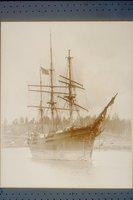 Bark (clipper ship) Seminole, starboard bow view