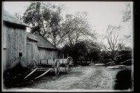 Barn and horse cart (Mystic area)