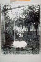 Ada Newbury of Mystic on a swing