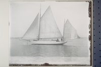 Yawl yacht on port tack, New Haven area