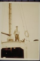 A. W. Smith of Black Rock on deck of sailboat