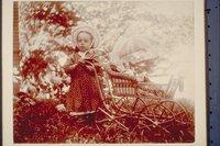 Ada Newbury with doll carriage, Mystic