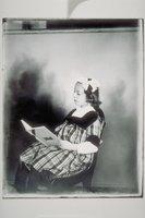 Ada Newbury of Mystic reading a magazine