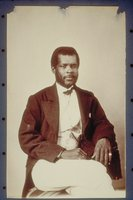 African American man, seated