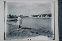 Ada Newbury on east bank of Mystic River