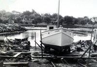 Ada May (boat) hauled out at Joe Butson's