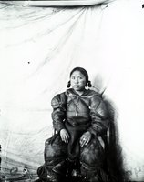 Aivilik Inuit woman with Tununermiut tattoos, Hudson Bay, Canada