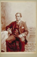 African American man seated in a chair