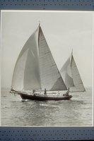 Yawl yacht Meridian on starboard tack