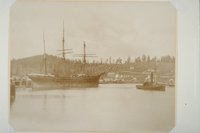Bark (clipper ship) Seminole, starboard view
