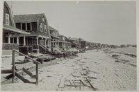 Beach house hurricane damage, Groton Long Point
