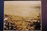 Aerial view of Mystic, looking east