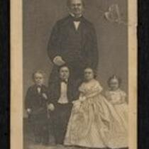 Illustration: P.T. Barnum with the Fairy Wedding Party