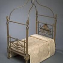 Furniture: Miniature canopy bed belonging to Charles S. Stratton