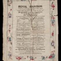 Program: Royal Aquarium Entertainments for July 14, 1888