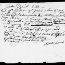 Silas Deane Papers: Business and Legal: Manuscript receipts notes, 1753-1776