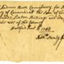 French and Indian War Collection: Account Rolls and supply rolls regarding enlisted men, 1761 (Box 1 Folder 26)