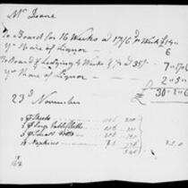 Silas Deane Papers: Accounts: Silas Deane's expenses, ca. 1780