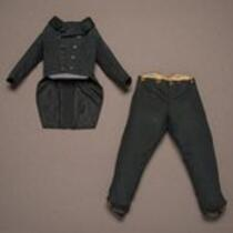 Textile: Black wool suit belonging to Charles S. Stratton