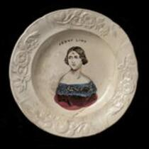 Physical object: Jenny Lind stoneware plate