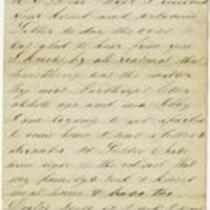 Letter of Joseph Cross 1865 February 21