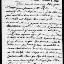 Silas Deane Papers: Correspondence Robert Morris to Silas Deane 1776 October 4, December 4