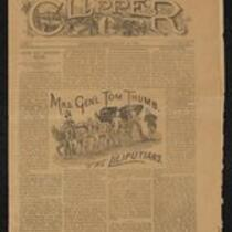 Newspaper: The Clipper with article about M. Lavinia Warren and Primo Magri