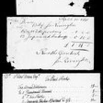 Silas Deane Papers: Accounts: Silas Deane's expenses in France and bill of goods, 1778
