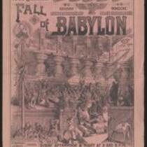 Courier: Fall of Babylon at Oakland Garden, June 30, 1890