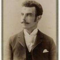 Unidentified man with mustache, undated
