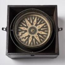 Physical object: Nautical compass owned by Charles S. Stratton